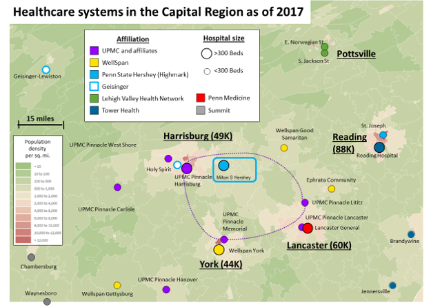 HC systems in the Capital Region as of 2017